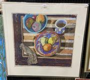 Sale 9011 - Lot 2009 - Victoria Peel No.9 Full Frontal oil pastel, 75 x 88cm (perspex frame broken), signed