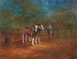 Sale 9139 - Lot 2015 - Geoff McKenzie (1936 -) - Early Morning 21 x 27 cm (frame: 48 x 52 x 5 cm)