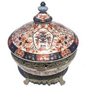 Sale 8356A - Lot 10 - Imari Pattern Lidded Bowl