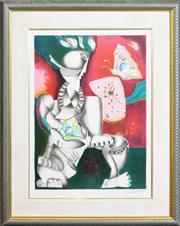 Sale 8286 - Lot 594 - Alexandra Nechita (1985 - ) - Victorious spirit, 1996 67 x 49cm