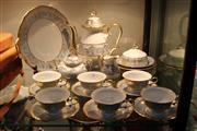 Sale 8304 - Lot 76 - Rosenthal Gilt & Duck Egg Blue Chippendale Tea Setting