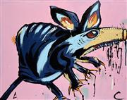 Sale 8309A - Lot 60 - Adam Cullen (1965 - 2012) - Untitled (Splinter) 56 x 70.5cm