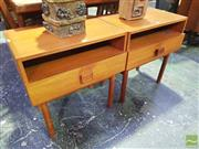 Sale 8451 - Lot 1096A - Pair of Parker Bedside Tables