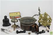 Sale 8524 - Lot 64 - Copper Jam Pot Together with other items inc Bell, Buddha and Trivet