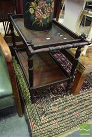 Sale 8542 - Lot 1094 - Oak Tea Trolley
