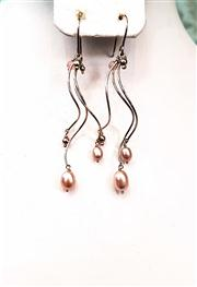 Sale 8577 - Lot 74 - A pair of fresh water pearl earrings, marked 925, L 7cm, Condition: As New