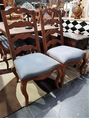Sale 8777 - Lot 1054 - Set of French Style Ladder Back Dining Chairs