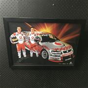 Sale 8828 - Lot 2044 - Team Vodaphone Team, Jamie Whincup and Craig Lowndes 2007/08, framed