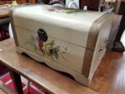 Sale 8822 - Lot 1194 - Hand Painted Lift Top Trunk