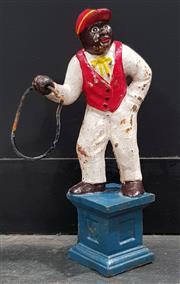 Sale 8988 - Lot 1042 - Cast Iron Hoop Jockey