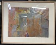 Sale 9011 - Lot 2008 - Keatinge Untitled (Abstract) oil on paper, 81 x 100cm (frame) signed