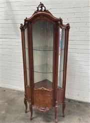 Sale 9063 - Lot 1013 - Heavily Carved Elevated Corner Display Cabinet (h:193 x w:54 x d:54cm)