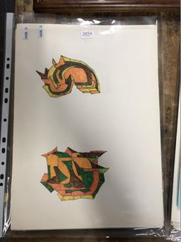 Sale 9139 - Lot 2054 - A selection of approx 50 original sketches by Lyndon Dadswell c1970s (unsigned) Provenance: The Artists Estate; with accompanying L...