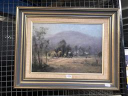 Sale 9147 - Lot 2008 - KASEY SEALY Soft atmosphere Saratoga, oil on board frame: 39 x 49 cm, signed lower right -