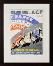 Sale 8309A - Lot 10 - Geo Ham (1900 - 1972) - GRAND PRIX: Dimanche 23 Juin 1935 50 x 32.5cm