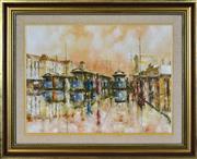 Sale 8408 - Lot 598 - John Guy (1944 - 2000) - Melbourne Trams 45 x 60cm