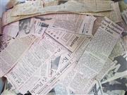 Sale 8419A - Lot 95 - Newspaper Cuttings - a box crammed full of Australian newspaper cuttings, 1930-1960s