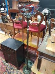 Sale 8593 - Lot 1031 - Leadlight Up Lamp