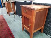 Sale 8672 - Lot 1087 - Pair of Timber Bedsides