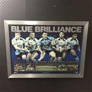 Sale 8828 - Lot 2047 - Blue Brilliance 2014 New South Wales Holden State of Origin Champions, Limited Edition, framed