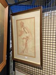 Sale 8936 - Lot 2041 - Moses Soyer (1899-1974) Ballerina ink and conte on paper, 65 x 45cm, signed