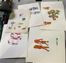 Sale 9147 - Lot 2059A - A selection of approx 50 original sketches by Lyndon Dadswell c1970s (unsigned) Provenance: The Artists Estate; with accompanying L...