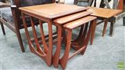 Sale 8395 - Lot 1035 - G-Plan Teak Nest of Three Tables