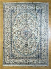 Sale 8693C - Lot 65 - Super Fine Persian Nain Silk Inlaid 385cm x 283cm