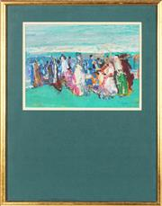 Sale 8767 - Lot 2055 - Livia Vajda (1929 - 2011) - Garden Party 19.5 x 27cm