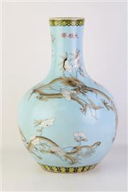 Sale 8778 - Lot 88 - A Blue Chinese Vase with Tree and Floral Motif ( H 41cm)