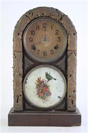 Sale 8840 - Lot 67 - A Glass Front Vintage Mantle Clock (Chip to Bottom Corner, Height 44cm)