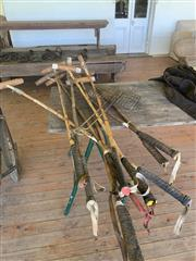 Sale 8934H - Lot 51 - 9 Polo mallets and American Football