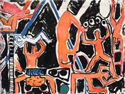 Sale 8958A - Lot 5001 - Graham Fransella (1950 - ) - Circus, 1985 44.5 x 59 cm (frame: 79 x 91 x 4 cm)
