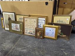 Sale 9101 - Lot 2062 - Group of Decorative Prints (12) incl. a quantity of Chromolithographs