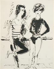 Sale 8504 - Lot 571 - Francis Lymburner (1916 - 1972) - Ballet Dancers 48.5 x 38.5cm