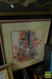 Sale 8537 - Lot 2074 - Valda Wilson, Still Life, mixed media, frame size: 75 x 70cm, signed lower centre
