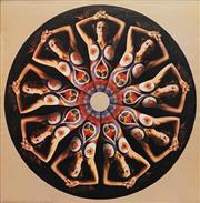 Sale 8822A - Lot 5053 - D. Nordahl & Don Getsug - Body Painted Nude Mandala 76 x 76cm