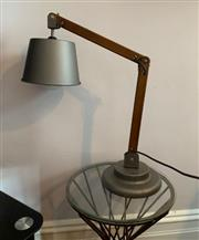 Sale 8891H - Lot 27 - A timber and galvanised anglepoise desk lamp by Lucci