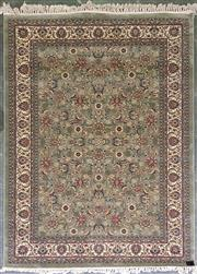 Sale 8979 - Lot 1038 - Modern Turkish Kashan in Green (230 x 160cm)