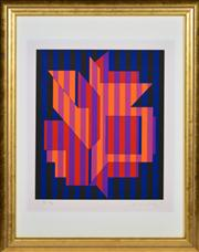 Sale 8363 - Lot 583 - Victor Vasarely (1906 - 1997) - Untitled 32.5 x 27.5cm