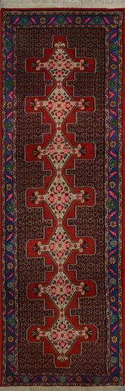 Sale 8402C - Lot 5 - Persian Hamadan Runner 290cm x 90cm