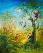 Sale 8510 - Lot 557 - David Boyd (1924 - 2011) - Raiding the Apple Tree 76.5 x 61.5cm
