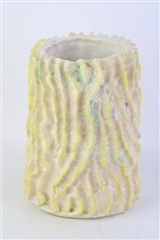 Sale 8802 - Lot 328 - A textured Australian pottery vase with inventory number to base