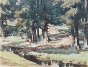 Sale 8901A - Lot 5079 - Geoffrey Keith Townsend (1888 - 1969) - Creek Near Kangaroo Valley 33 x 44 cm