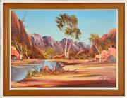Sale 8325 - Lot 593 - Henk Guth (1921 - ) - Australian Outback Landscape 43.5 x 59cm