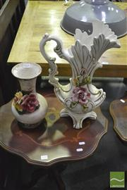 Sale 8398 - Lot 1031 - Pair of Lamps & 2 Capodimonte Style Vases