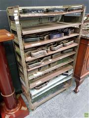 Sale 8611 - Lot 1007 - Industrial Rack with Shoe Knives (H: 136 W: 84 D: 34cm)