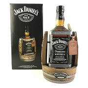 Sale 8830W - Lot 69 - Jack Daniels Tennessee Whiskey Large Format Bottle on Cradle with Leather Tag - bottle no. 2345, 40% ABV, 1750ml