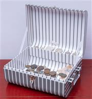 Sale 8891H - Lot 38 - A hamper containing a quantity of world coins to include a 1780 Thala, a 1984 US Dollar and a 5 Franc note
