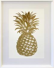 Sale 8961 - Lot 2059 - A Designer Decorative Print of A Pineapple, 94 x 74cm (frame)